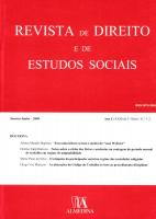 Revista de Direito e de Estudos Sociais, Janeiro-Junho 2009 - Ano L (XXIII da 2.ª Série) Nºs 1-2