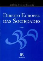 Direito Europeu das Sociedades