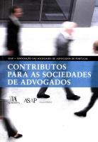 Contributos Para as Sociedades de Advogados