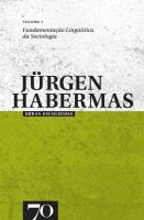 Obras Escolhidas de Jürgen Habermas - Vol. I