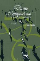 Direito Constitucional e Teoria da Constituição