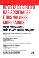 Revista de Direito das Sociedades e dos Valores Mobiliários   Comemorativa