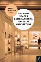 Fashion Spaces Geographical, Physical And V..2016
