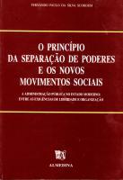 O Princípio da Separação de Poderes e os Novos Movimentos Sociais