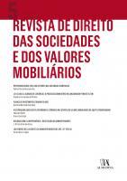 Revista de Direito das Sociedades e dos Valores Mobiliários   Nº5