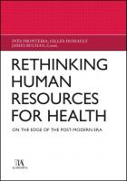 Rethinking Human Resources For Health