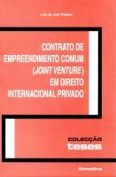 Contrato de Empreendimento Comum (Joint Venture) em Direito Internacional Privado