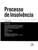 Processo de Insolvência - Anotado e Comentado